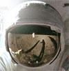 Aldrin visor reflection