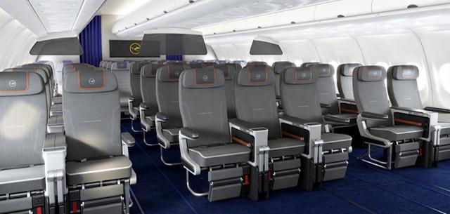 Lufthansa premium economy seating