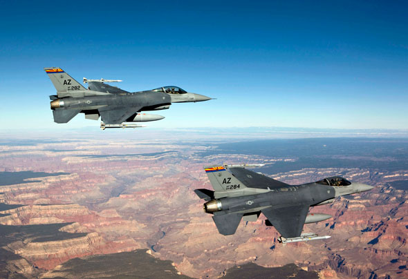 F-16s over the Grand Canyon
