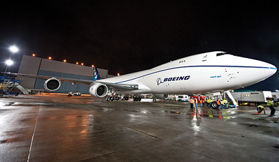 Boeing 747-8F rolls out