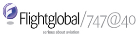 Flightglobal/747@40 logo